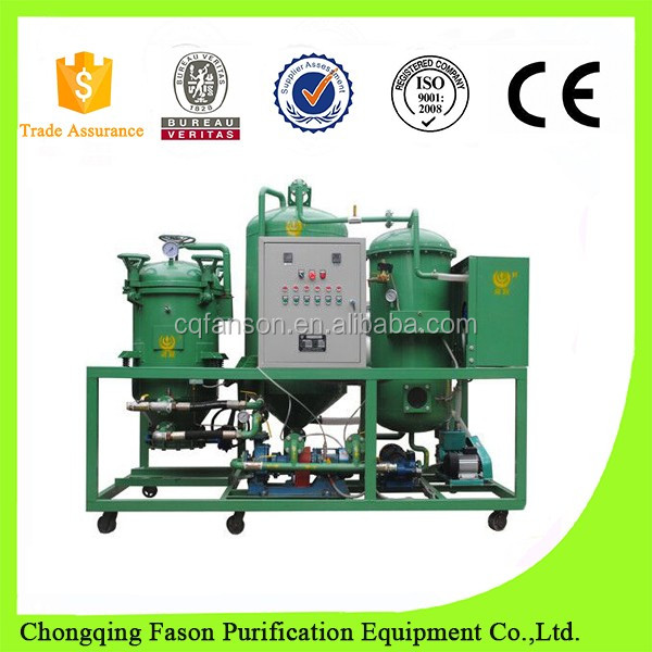 Used turbine oil filtration system waste oil recycling plant for sale