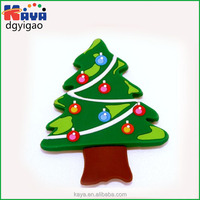 Soft pvc fridge magnet with christmas tree shape