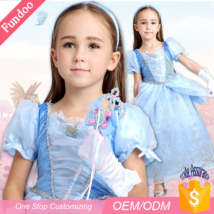 High Quality Elegance Fancy Flower girl Cinderella Dress Princess Costume