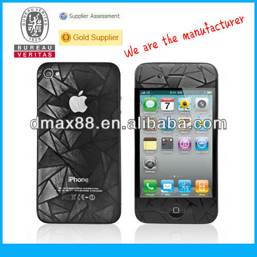 2013 Innovative mobile phone accessories for iPhone 4s (Screen Protector) oem/odm (3D)