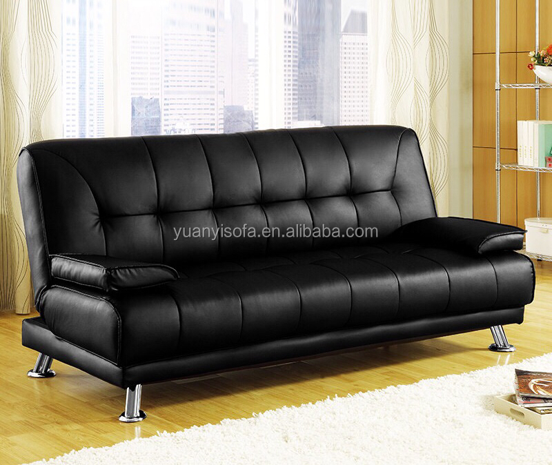 Hot sale popular living room furniture high quality PU leather sofa bed YB2218