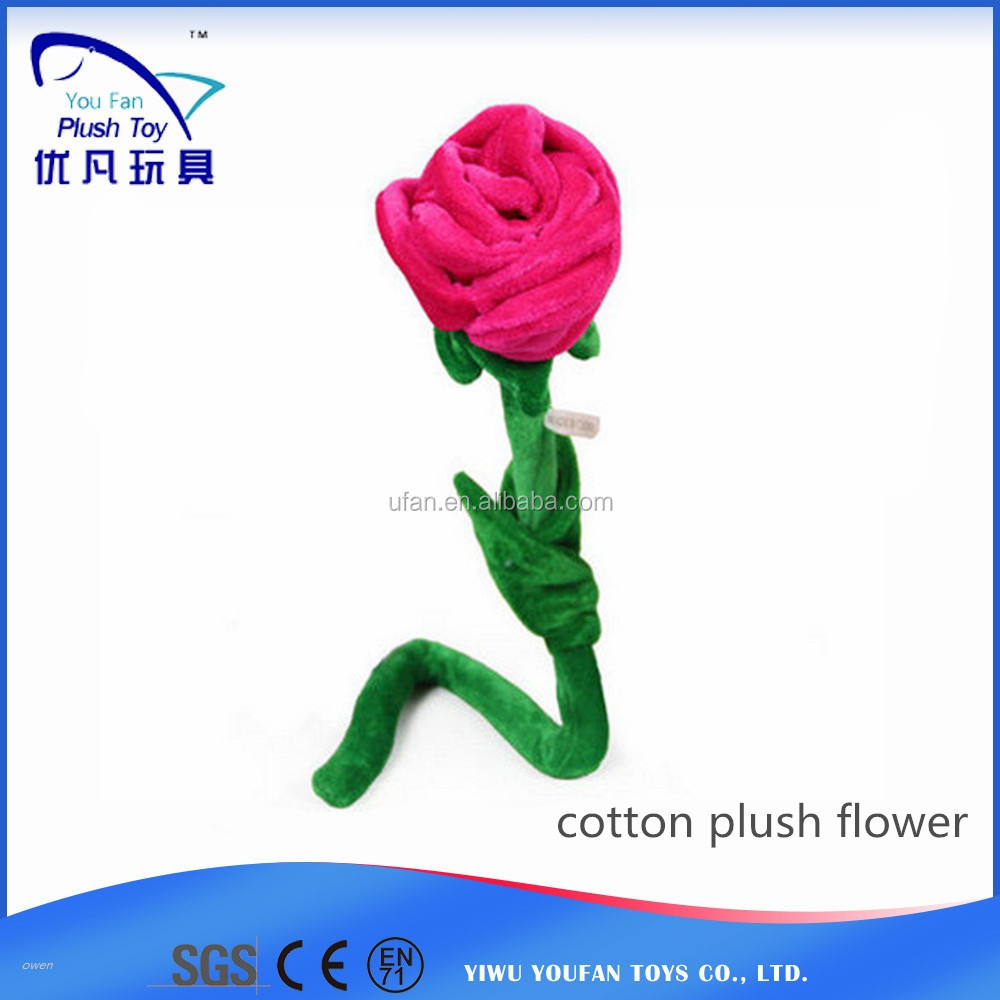 factory custom simulate soft rose flower stuffed plush