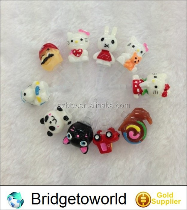 Silicone cute cartoon phone dust plug manufacturer