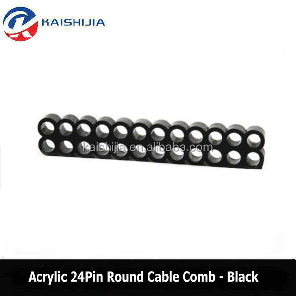 New Round 24 Pin Acrylic <strong>cable</strong> combs for 3mm & 4mm PC Power <strong>cables</strong>