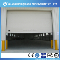 Fashionable design aluminum frame glass sectional transparent garage door, full view high quality glass garage door