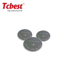 3.7V leak-proof li-ion battery LIR2025 lithium recharge coin cells with pins from manufacturer