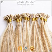 Indian Remy Hair Nail U Tip italian keratin Hair Extension,Prebonded hair Extension