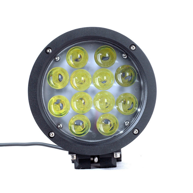 "7"" High Power 60W 12V 24V 5100LM IP67 Spot Flood Beam 60W Led Work Lights for Tractors and Vehicles Truck Marine"