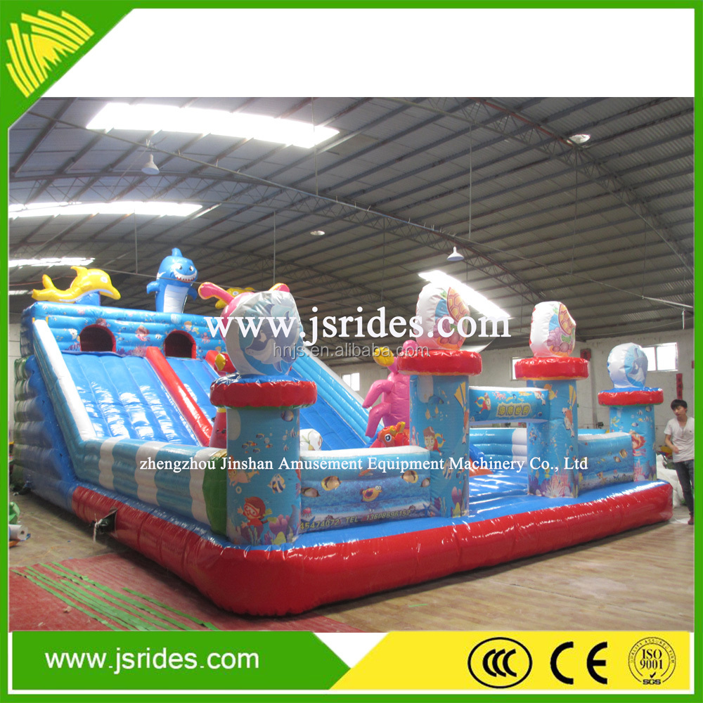 Good quality New Bouncy Castles /inflatable castle slide and jump for kids and hire