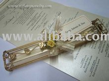 [super Deal] Hand Crafted Metal Scoll Invitation For Wedding, Debut, Anniversary