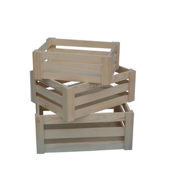 New Designed Wholesale Natural Unfinishd Cheap Wooden Fruit Crates For Sale,wooden wine crates,wooden crates for wine and beer