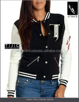Customized Varsity Jacket / Letterman Jacket / Varsity Jacket with Leather SLeeves
