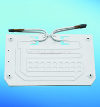 Roll bond cylinder evaporator cooling plate for refrigerator
