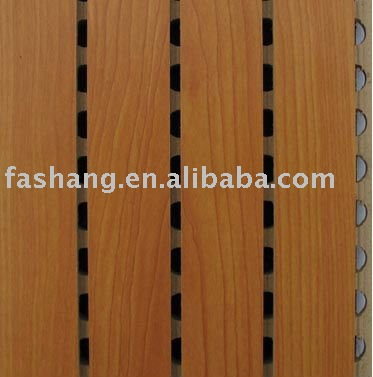 Perforated and Grooved wooden acoustic panel for interior wall and ceiling!