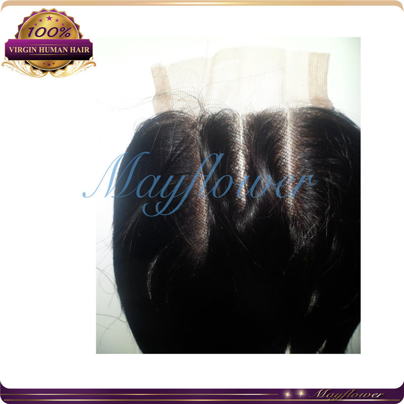 free parting/three part lace closure Brazilian straight closures pieces bleached knots