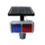 Visibility distance over 800m for solar traffic red and blue flashing light