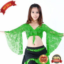 BestDance Sexy Belly Dance Lace Tops Dancer Costumes Yoga Practice Lace Top OEM