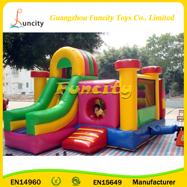 Commercial Custom Neutral 0.55mm PVC Tarpaulin Inflatable Bounce jumping House castle for sales