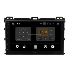 9'' full touch screen android audio car system for toyota prado 2002-2009 dashboard with radio/gps/bt/wifi/swc/usb/tpms/obd2/tv