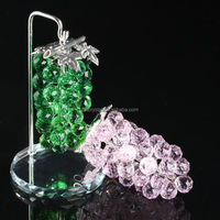 Different color of Crystal grape with metal leaf and branch MH-G0325