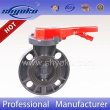 2016 china supplier new products sanitary pvc butterfly valve with stainless steel 304 shaft