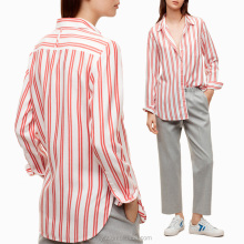 Wholesale casual shirts designs lightweight striped women blouse online shopping