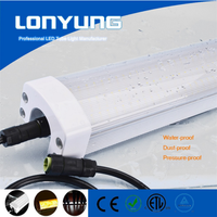 Widely used in metro station led tri-proof lamp 1.5m 80w 60w 50w tri-proof light 6500k pc cover