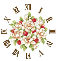 cross stitch kits magnolia with clock embroidery kit