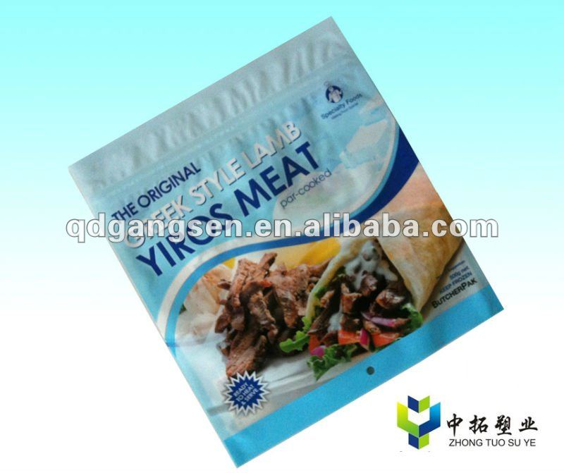 super chicken meat zipper plastic bag manufacture