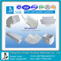 China Brand SGS Approved Pvc Rain Gutter End Cap / Cover / Drain System