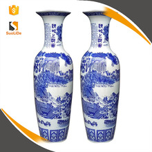 2017 hot sale big living room decoration large chinese ceramic floor vases