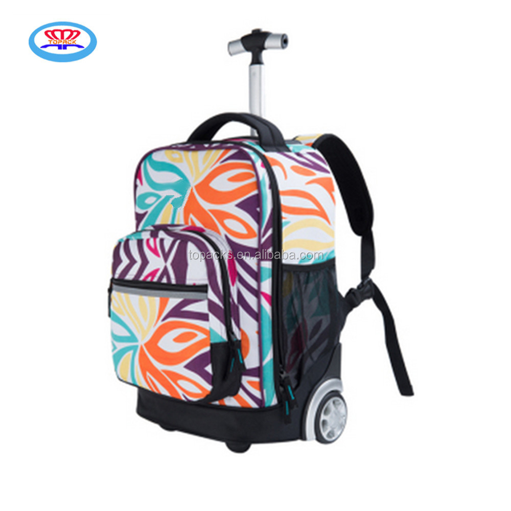 wholesale kid school trolley bag rucksack