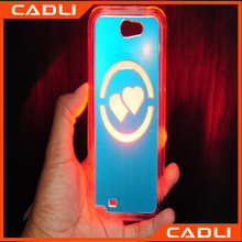 Wholesale colorful hard pc call incoming flash led light phone case for Samsung S6