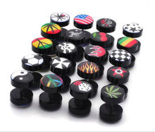 Acrylic fake flesh plugs with pictures of earring for men
