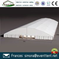 China professional new design high quality pvc pipe tent frame curve tents