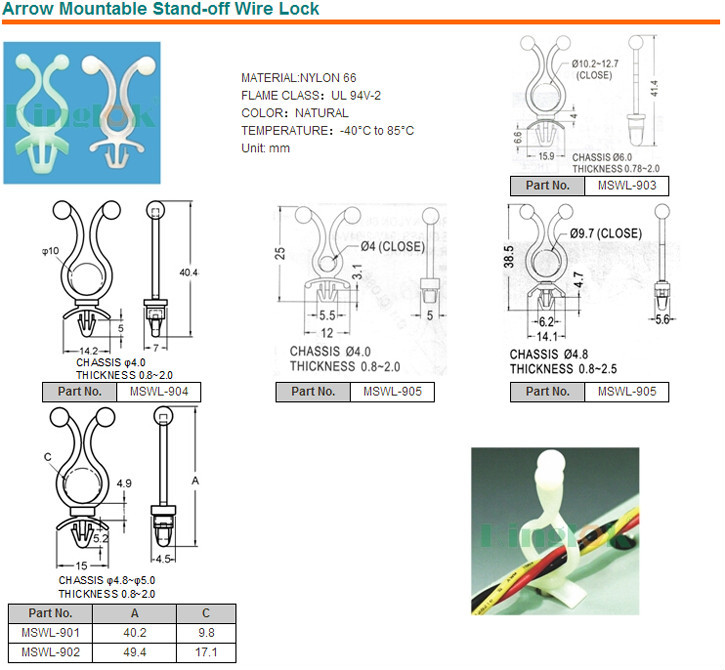 wire mount Nylon Cable Clamp Self adhesive cable tie mount nylon cable clamp Electrical Wire Clamp R Style clamp