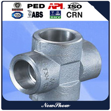 Forged High Pressure Socket Weld Stainless Steel cross Pipe Fitting