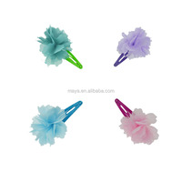 2016 Hot-sales New design Japanese style Pure color corrugated bow cute little Japanese style hair clips