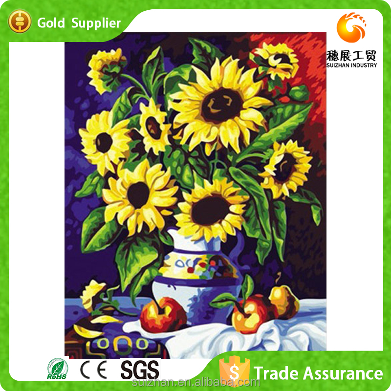 Home Decoration Sunflower Canvas Painting 5d Diy Diamond Painting ...