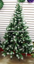 210cm Atificial snowing Christmas tree with pine cone