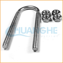 Made in china fastener stainless steel metric u bolts with nuts and pins for auto