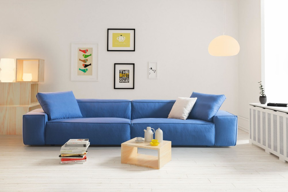 New Bright Color Fabric Sofa Simple Design Living Room Modern Big Sofa Buy Sofa Latest Living