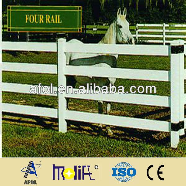 2013 Fashion Style 4 Rails Lead Free Cheap PVC Fence Post For Horse Farm