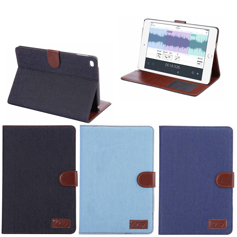 Cowboy Flip Leather Wallet Case Cover for iPad Mini 4 with Business Card Holder