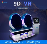 LSJQ-799 Competitive cinema 9d Funny 9D VR motion electric egg chair for mall 9d simulador de cinema