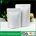 China suppliers wholesale food grade white stand up foil pouch