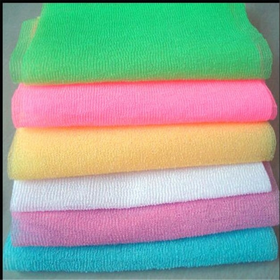 Novelty Multi Colors Nylon Exfoliating Beauty Skin Shower Wash Bath Cloth Towel Back Scrubbers