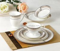121pcs Luxury Pakistani Porcelain Dinner Set, Fine Bone China Dinner Set for 12 people