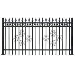 Metal livestock farm fence panel
