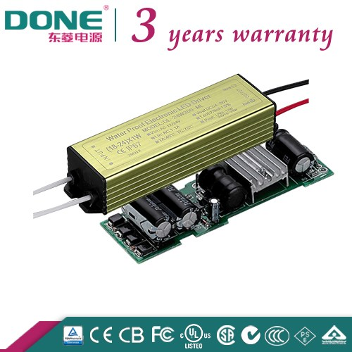 UL BIS CE CB TUV SAA C-TICK Approved Low Voltage 12/24V DC/AC Input 300ma Constant Current 24W LED Driver With IP67